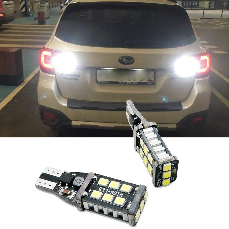 Светодиодный стоп-сигнал для Subaru BRZ Forester Impreza Legacy Outback, T15 W16W 15SMD 2835, 2 шт.