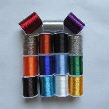 Разноцветная отборная Высококачественная семейная вышивка из металла, нитки для шитья, аксессуары для одежды DIY, 60 ярдов, 1 шт., распродажа