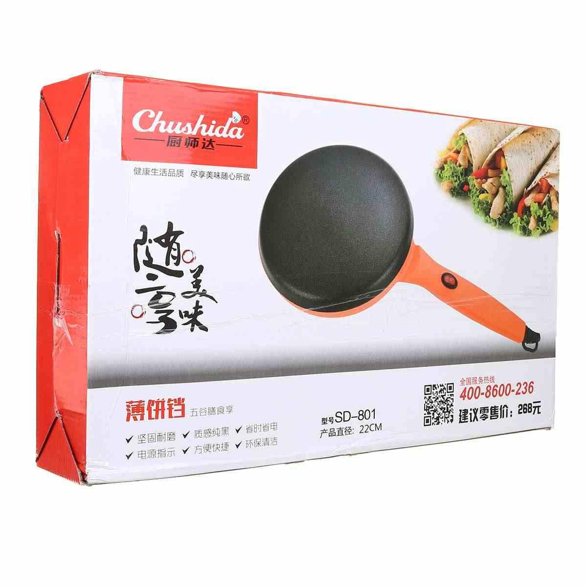 900W 220V שאינו מקל חשמלי קרפ פיצה יצרנית פנקייק מכונה שאינו מקל מחבת עוגת תבנית אפיית מכונה מטבח בישול כלים
