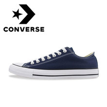 Original Authentic Converse ALL STAR Classic Unisex Skateboarding Shoes Low-Top Lace-up Durable Canvas Footwear Blue 102329(China)