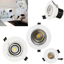LED COB Recessed Ceiling Downlight 12W 9W 3W Lamp With Driver  85-265V Spot Light Indoor Lighting For Home Office Decoration led recessed downlight 24w indoor ceiling light 300 600mm spotlight led panel lamp 85 265v with driver for lighting hotel office page 1