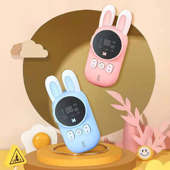 2pcs/Set Children's Walkie Talkie Kids Electronic Spy Gadgets Handheld Transceiver 3KM Range UHF Radio Interphone Toys For Boys 2