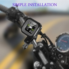 Motorcycle Tire Pressure Monitoring System External Sensor Real Time Monitor Tool car accessories