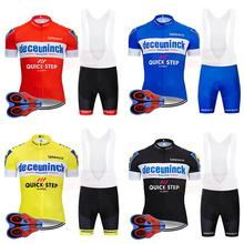 2019 Pro Team Quick Step Cycling Jersey 9D Bib Set Bike Clothing Ropa Ciclism Bicycle Wear Clothes Mens Short Maillot Culotte crossrider 2018 pro team france cycling jersey men short cycling uniform set ropa ciclismo bicycle wear clothing maillot culotte