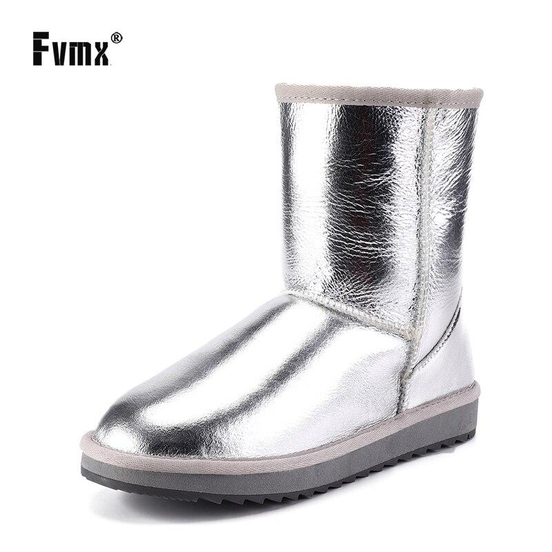 FVMX, básico de moda, piel de oveja, forrado de piel y lana, botas de invierno de media pantorrilla para mujer, botas básicas para la nieve, zapatos impermeables de talla grande Zapatillas de piel de cuero vacuno para hombre, mocasines, zapatos a la moda, calzado para conducir para hombre, zapato suave, mocasín para hombre
