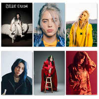 Nordic Singer Star Billie Eilish Poster Modular Pictures Wall Art HD Prints Canvas Painting Home Decoration For Bedroom Frame