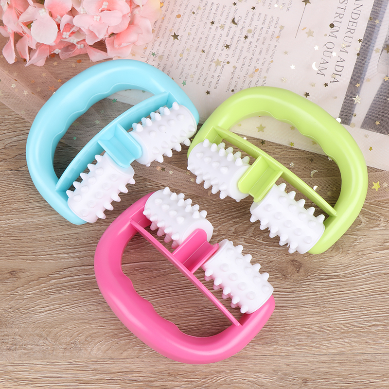 Mini Wheel Ball Slimming Body Leg Foot Hand Neck Fat Cellulite Control Pain Relief Roller Massage Handle Cell Roller Massager