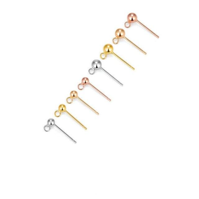 шпильки для сережек гвоздиков из стерлингового серебра 925 пробы фотография