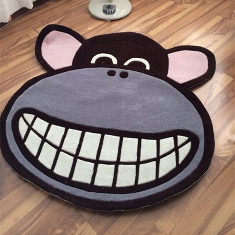 Bande dessinée épaississement circulaire salon chambre tapis thé Table chaise tapis de sol tapis décoratif