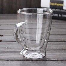300ml Breakfast milk tumbler cup Double walls layer bottom Glasses Creative coffee mugs Tea Cups Champagne whiskey glass
