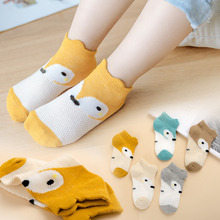 5 Pairs/Lot Baby Cotton Socks Baby Boys Girls Fox Infant Newborn Bebe Fashion Cute Child Spring Summer Sock Toddlers Mix Colors 5 pairs lot infant baby socks summer non slip socks newborn baby girls boys toddlers cotton bebe cartoon fashion cute floor sock