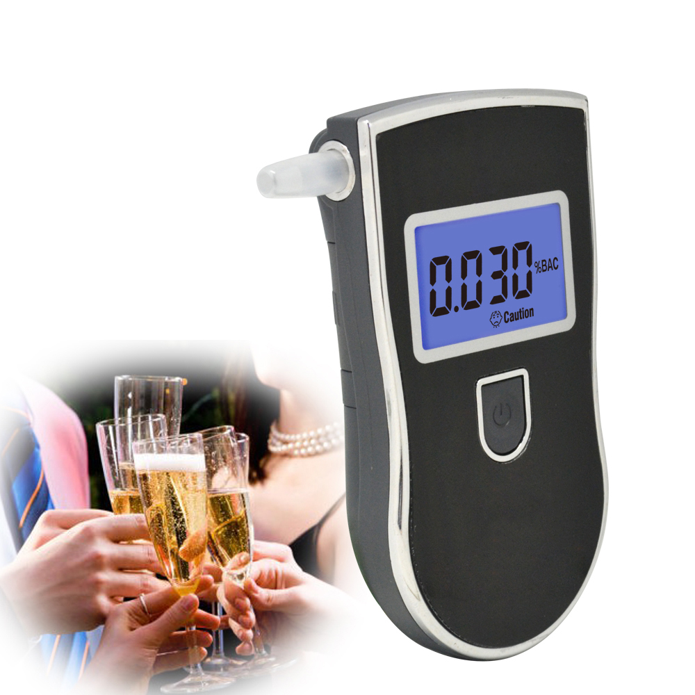 AT-818 Hot Selling Professional Police LCD Digital Breath Alcohol Tester Analyzer Car Breathalyzer With Blue Backlight 2019 image