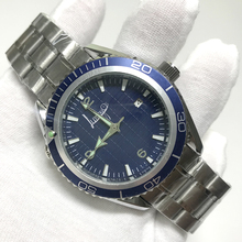 hot sell Blue dial luxury watches Automatic self-winding glide smooth second hand sea watch master stainless steel A quality