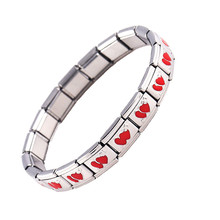 Bracelet Fashion Italian Charm Germanium Stainless-Steel Stretch Women Jewelry Magnetic