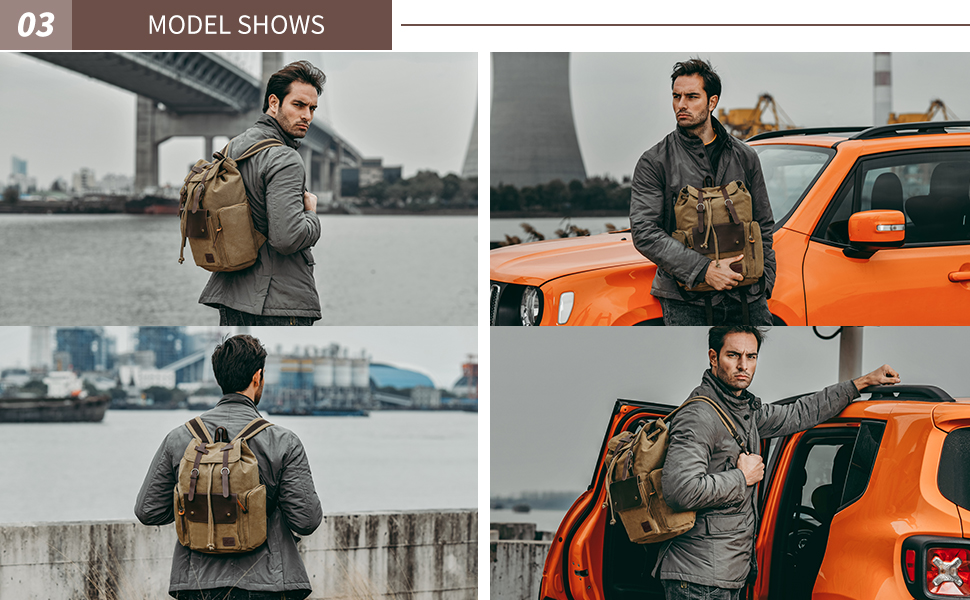 Large Capacity Travel Backpacks Outdoor Sports Backbags High Quality Canvas Backpacks Mens Travel