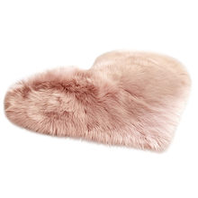 Wool Imitation Sheepskin Rugs Faux Fur Non Slip Bedroom Shaggy Carpet Mats cobertores de cama de invierno blankets for beds(China)