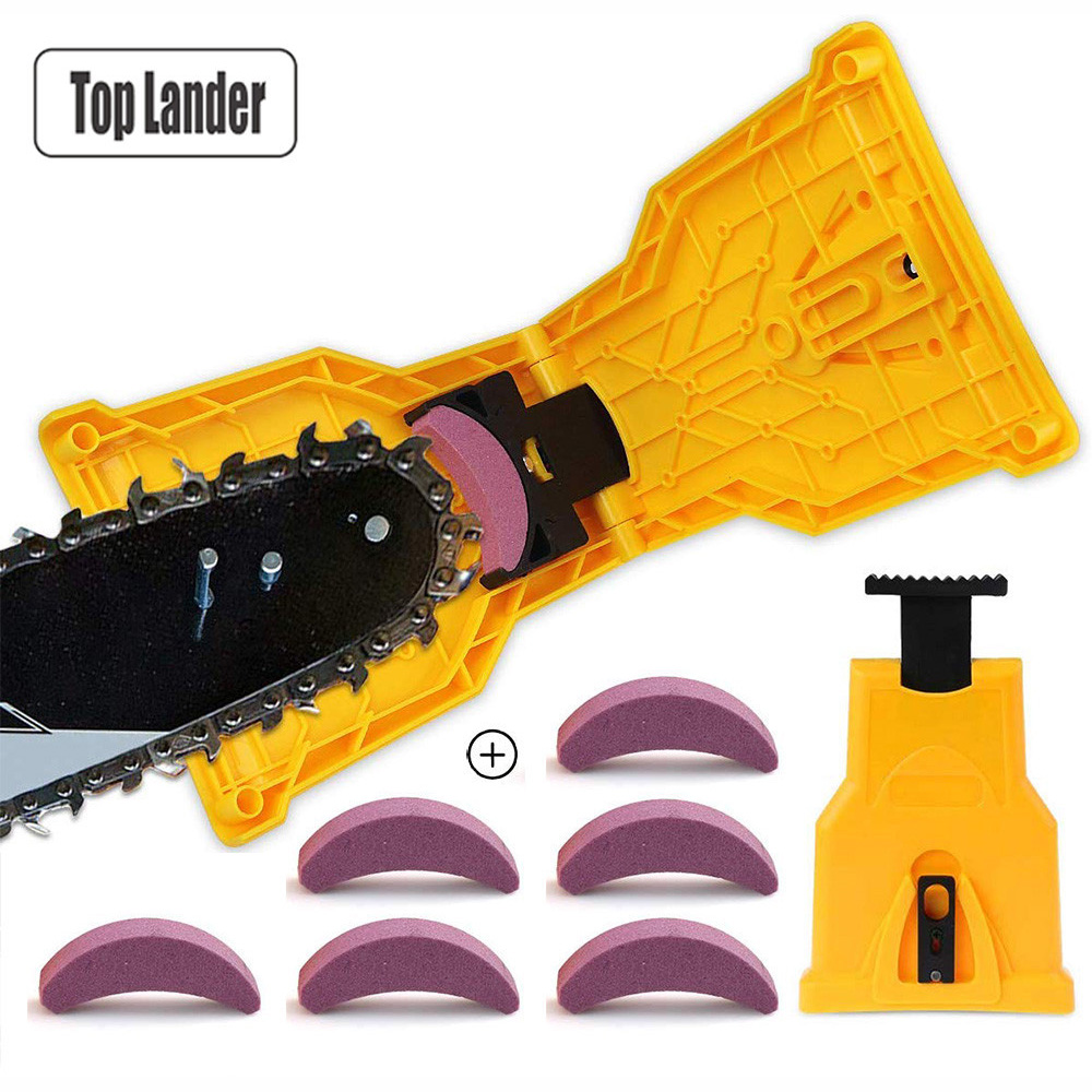 Chainsaw Teeth Sharpener Sharpens Saw Chain Sharpening Tool System Abrasive Tools Easy Durable Sharp Bar-Mount Fast Grinding