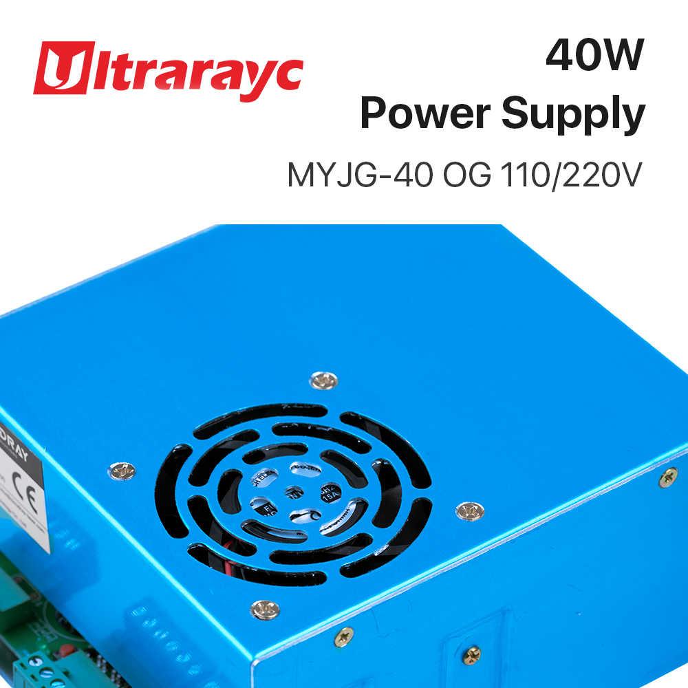 Fuente de alimentación láser Ultrarayc 40W CO2 MYJG 40WT 110V/220V para máquina cortadora de grabado de tubos láser modelo A