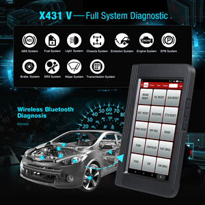 Image 2 - Launch X431 V Full System Car Diagnostic Tool x 431 v with 16 reset service pro mini obd2 code scanner 2 year online free update