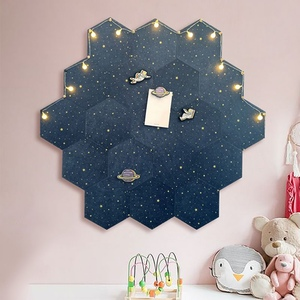 Creative Hexagon Decoration Drawing Wall Message Cork Board DIY Multifunction Photo Background Stickers Bulletin Office