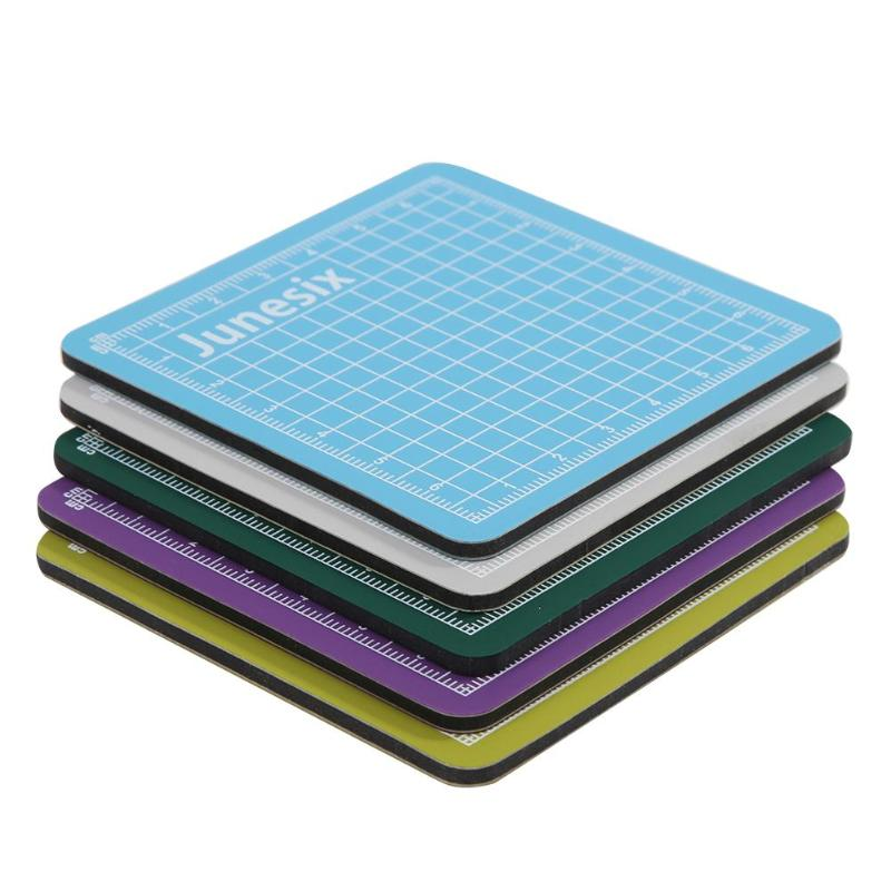 8cm*8cm PVC Cutting Mats Sewing Cutting Pad Double-sided Plate Design Engraving Cutting Board Mat Handmade Hand Tools