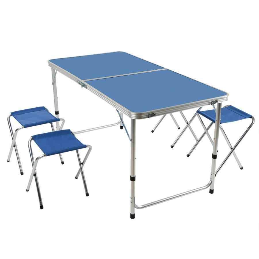 - Outdoor Camping Table Chairs Set Aluminum Alloy Portable Foldable