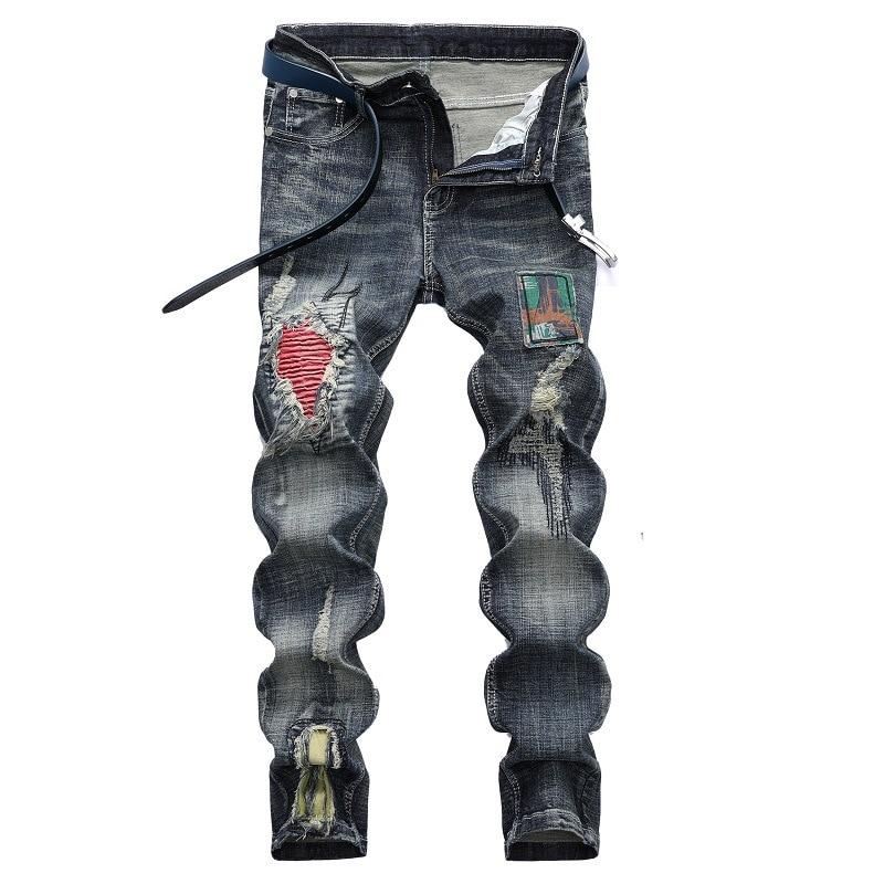 Men Slim Denim Skinny Jeans Men's Casual Jeans High Quality Large Size 42 Fashion Braand Jeans Men