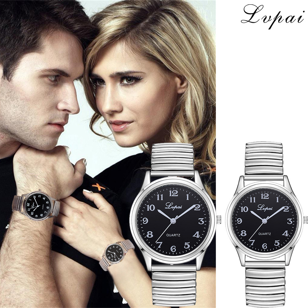 Lvpai Couples Casual Quartz Steel Belt Watch Analog Wrist Watches Modern Fashion Casual Quartz Watch Men Women Wristwatch
