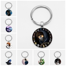 Sugar Skull Creepypasta CREEPY PASTA TICCI TOBY  Glass Keychain JEFF THE KILLER Gift Nightmare Before Christmas