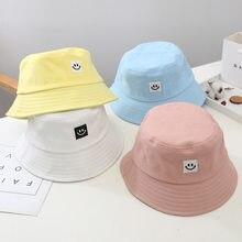 Chapéu de balde de sorriso chapéu de balde amarelo crianças sorridente rosto unissex moda bob boné hip hop gorro masculino boné de verão crianças chapéu