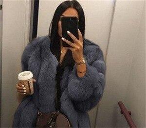 Image 5 - 2019 חדש חורף נשים ורוד מעיל בתוספת גודל 5xl אופנה מקרית Loose מוצק מלא שרוול סלעית קטיפה מעיל נשים גדול להאריך ימים יותר Parka