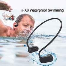 Najnowszy APT X V31 z przewodnictwem kostnym Bluetooth 5.0 z odtwarzaczem MP3 IPX8 wodoodporny basen odkryty słuchawki sportowe odtwarzacz muzyczny MP3