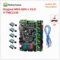 Makerbase оригинальный MKS GEN L V2.0 3D Принтер запасная системная плата управления поддерживает a4988 DRV8825 tmc2130 tmc2208 tmc2209 lv8729