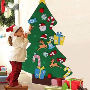 DIY Felt Christmas Tree Family Wall Hanging Decoration Christmas Tree Child New Year Gift Christmas Decoration Artificial Tree