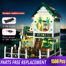 XB-01202 Building Blocks Creative Glowing House With Figures Romantic Heart house with Led Light Children Toys Bricks xingbao 01202 1500pcs the new romantic heart set with light usb building block bricks educational toy valentine s day legoingys