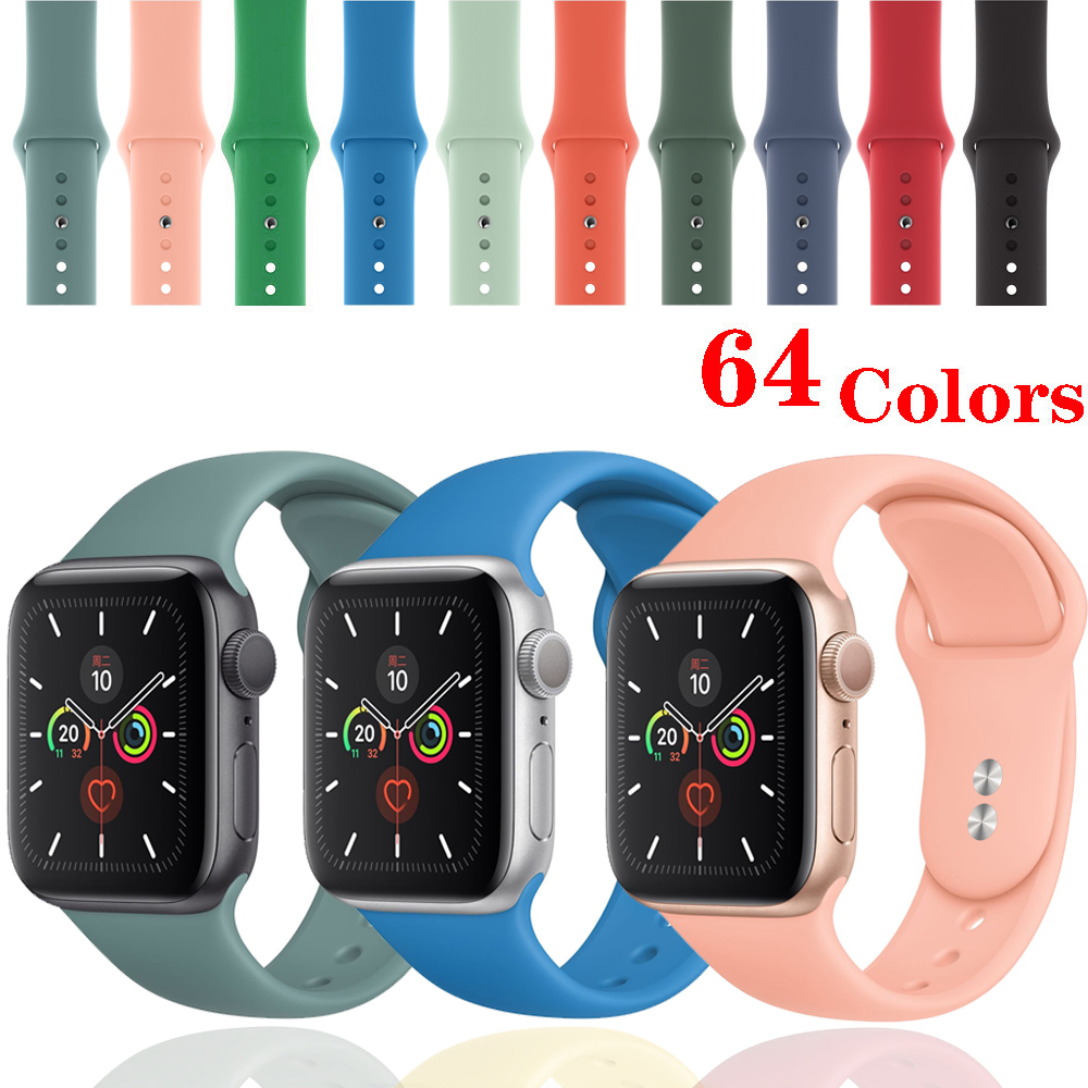 Strap For Apple Watch Band Iwatch 42mm 38mm 40mm Bracelet Silicone Watchband Accessories Correa Apple Watch 5 Band 44mm 4 3 2 1