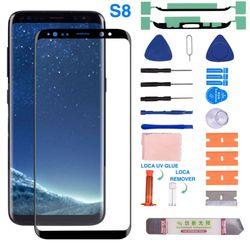 Przedni szklany ekran z wymiennym zestawem naprawczym do Samsung Galaxy S8/S8Plus/S9/S9 plus/S10/S10Plus wysoka czułość T9 w Etui do ekranu telefonu od Telefony komórkowe i telekomunikacja na