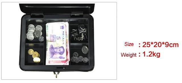 Protable Key Locker Safe Home Shop Steel Mini Money Box Security Cash box Storage Box Hidden Coin Money Jewellery 6