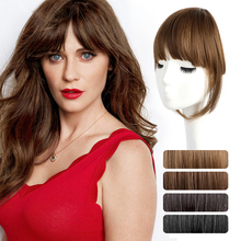Clip In Hair Bangs Hairpiece Synthetic Fake Bang Hair Piece Clip In Hair Extension Air Bangs Clip on Bangs Black Brown unique love heart style zinc alloy hair pin bangs clip black 6 pcs
