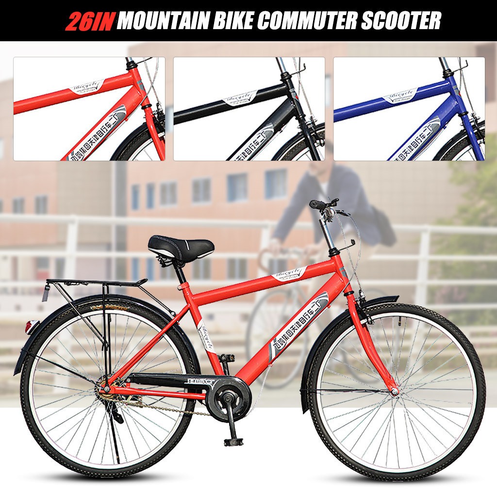 Bicycle Men's Bike <font><b>26</b></font> Inch Frame Good Condition Hybrid Bike Unisex Adult Mountain 21 Speed Ultra Light Bicycle Student <font><b>Bmx</b></font> JG3 image