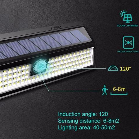 a prova dwaterproof agua 180 cob led 1200lm lampada de parede de controle remoto solar