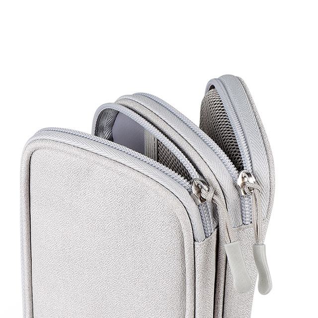 Portable Power Bank Bag USB Charger Gadgets Cables Wires Organizer Pouch Travel Electronic Accessories Protection Storage Case 5