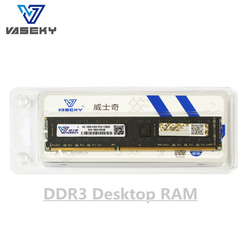 Vaseky 4GB 8GB 2GB PC Memory RAM Memoria Module Computer Desktop PC3 Fully Compatib DDR3 1333Mhz 1600Mhz 2g 4g 8g 16gb 1333 1600