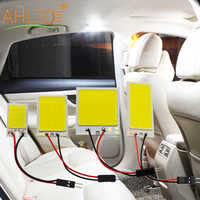 1 unidad de lectura Interior de coche Led T10 COB W5W C5W 16 24 36 48 Leds 7 colores opciones lámpara Techo Luz Domo lámpara BA9S 3 adaptador DC 12V
