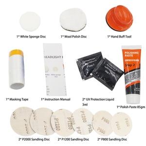 Image 3 - Headlight Polisher For Car Lenses Chemical Polish For Headlights Restoration Polymer Liquid Car Care Polishing Kit Headlamps Wax