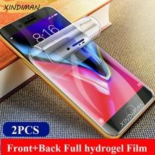 XINDIMAN 2pcs Full hydrogel film for iphoneXR XSMAX Front+back screen protectorfor iphone6 6s 6plus 7 7plus 8 8plus XS Soft Film