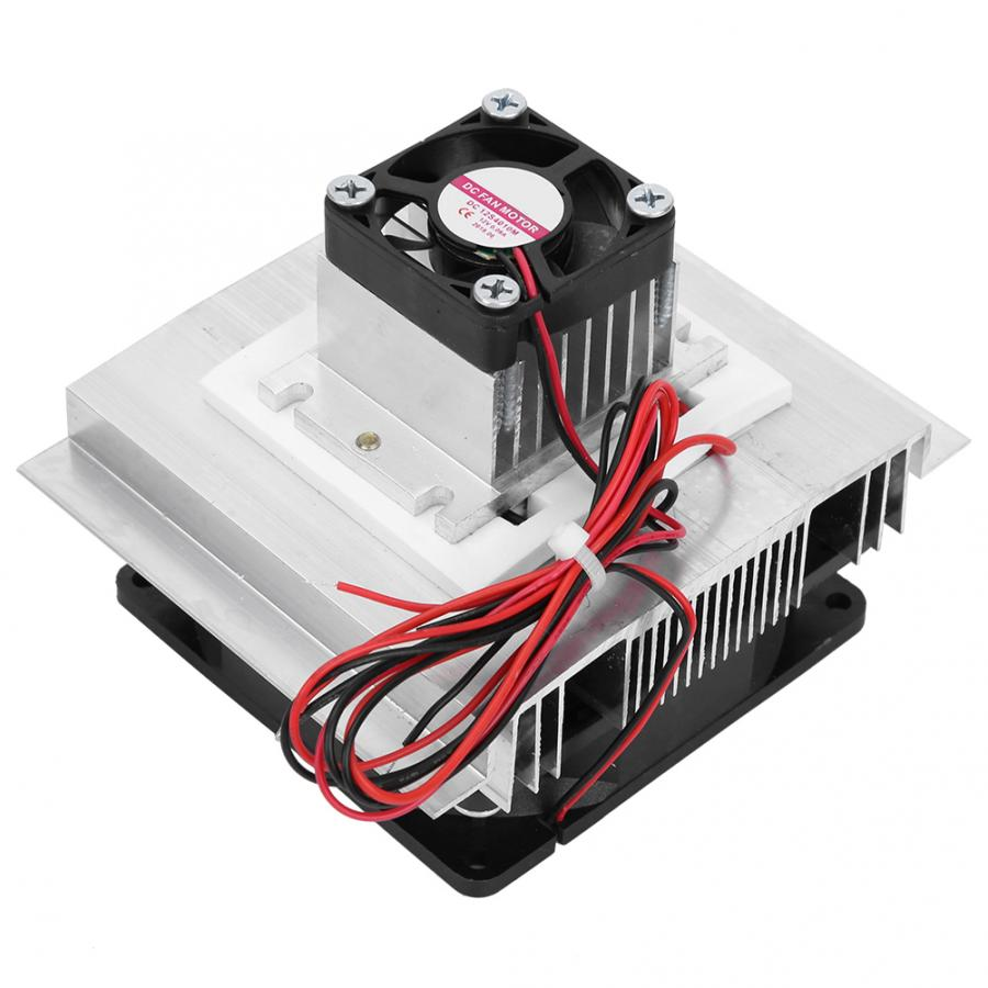 XD-35 12V 60W Thermoelectric Peltier Plate Module Cooling System DIY Kit For Small Space Cooling With Cold End Fan