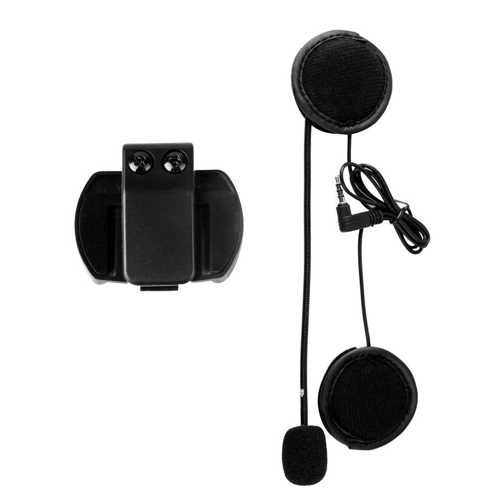 Гарнитура для микрофона V4/V6, Универсальная гарнитура для шлема, переговорное устройство с зажимом для мотоцикла, Bluetooth-устройство