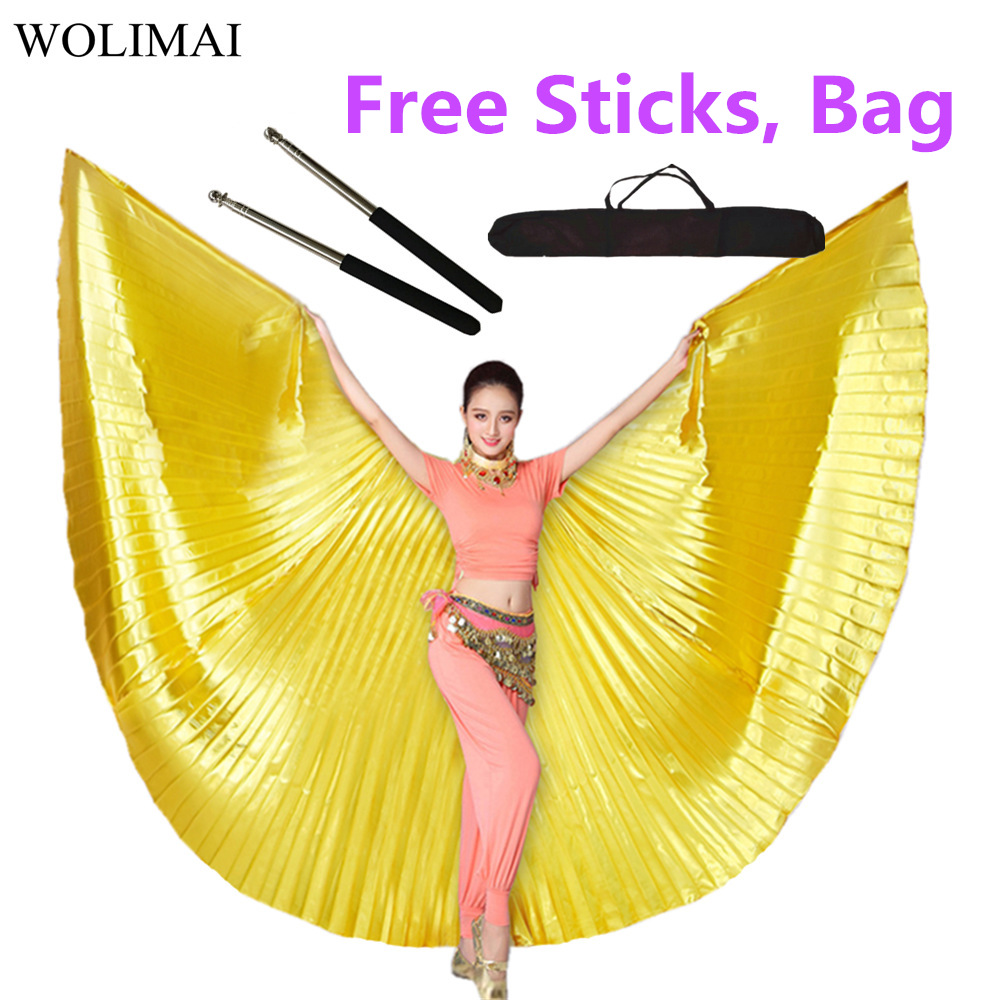 Belly Dance Isis Wings Belly Dance Adult Women Accessory Bollywood Oriental Egypt Egyptian Wings Costume With Sticks Gold Silver