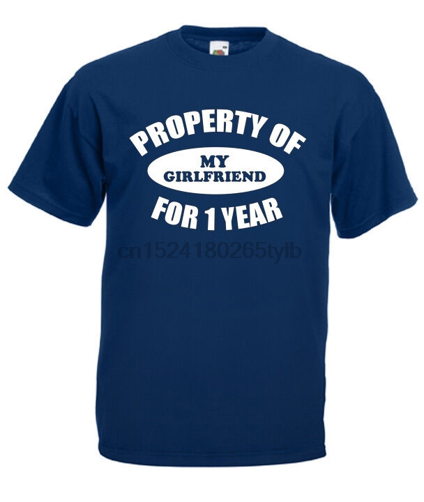 Property Gf 1 Year T Shirt 1st Anniversary Gifts Presents For